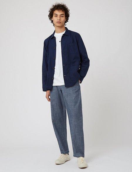 Universal Works Bakers Overshirt jacket - Navy Blue