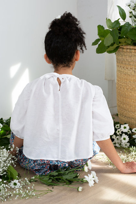 KIDS Devon's Drawer Dandelion puff sleeve top