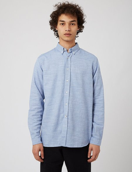 Oliver Spencer Brook Shirt - Bookham Blue