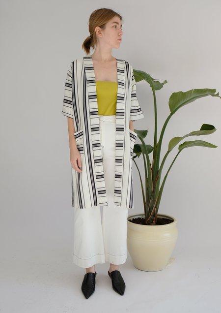 OhSevenDays Saturday Striped Kaftan dress