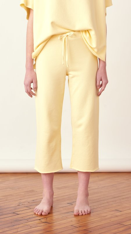 Frank & Eileen Cropped Wide Leg Sweatpant - Canary Yellow