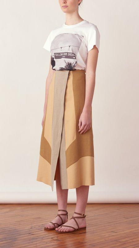 Dorothee Schumacher Summer Mix Skirt - GOLDEN SAND