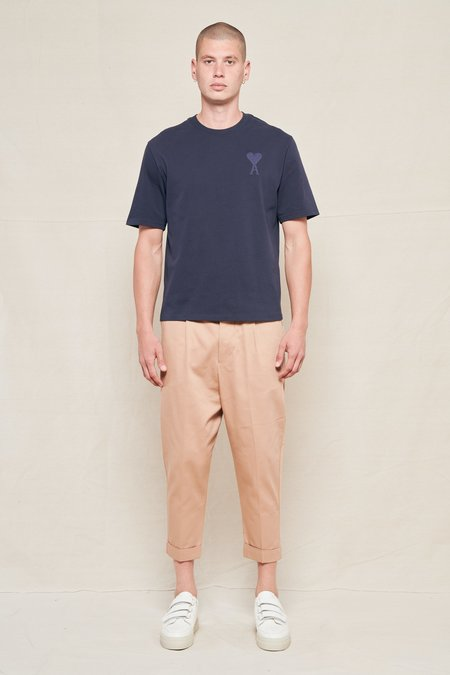 AMI Oversized Carrot Fit Trousers - BEIGE 250