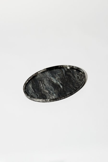 Aeyre Oval Tray - Black/White