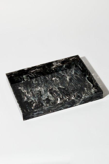Aeyre Rectangle Tray - Black/White