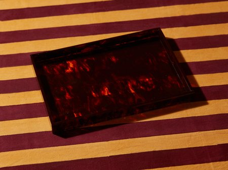 Aeyre Rectangle Tray - Brown Marble