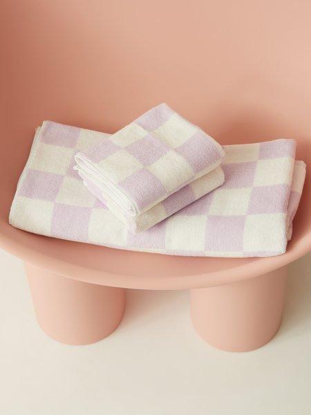 Aeyre Towel Set - Big Check Lilac