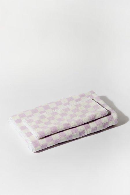 Aeyre Towel Set - Check Lilac