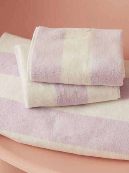 Aeyre Towel Set - Wide Stripe Lilac