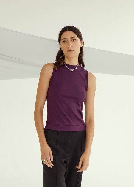 permanent vacation Luxe Tank - Plum