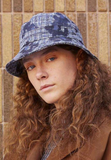 Henrik Vibskov Slow Bucket Hat - Mint/Blue