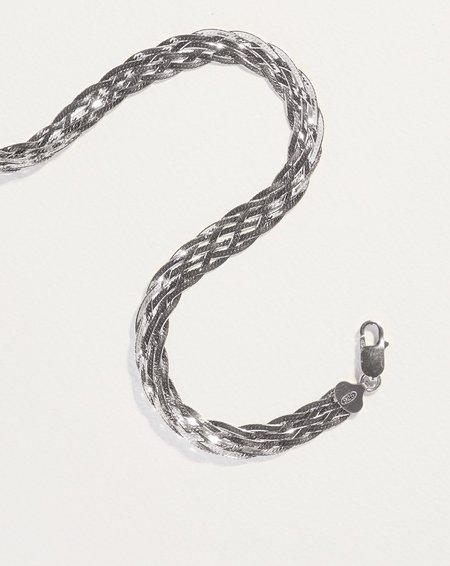 Pamela Love Braided Herringbone Thick Chain - Sterling Silver