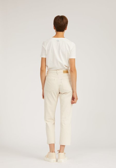 Armedangels Fjellaa Recycled Cropped Undyed Straight Fit Mid Waist Jeans