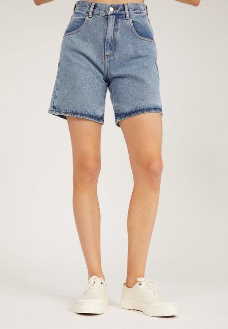 Armedangels Freymaa Organic Cotton Denim Shorts - Medium Washed Blue