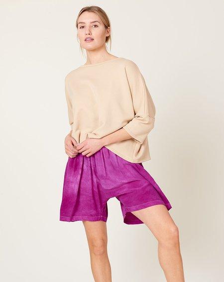 Anntian Silk Shorts - Purple