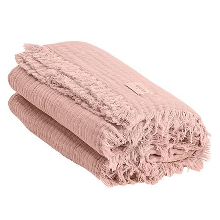 Kids Moumout Autumn Paris Plaid Loulou Throw Blanket - Antic Pink