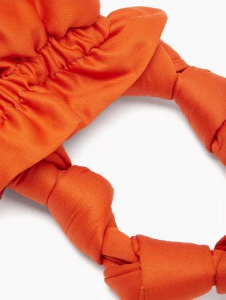 Ganni Satin Knots Bag - Flame