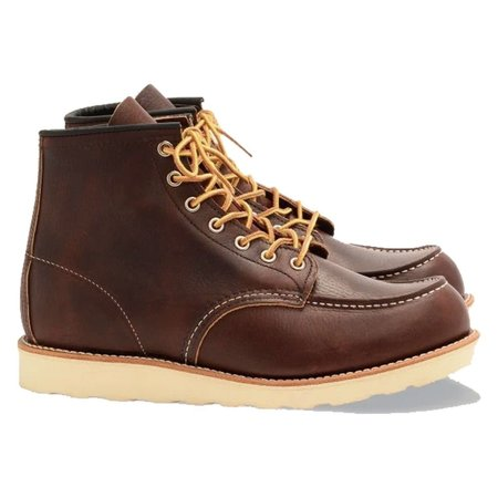 Red Wing Shoes CLASSIC MOC STYLE NO. 8138 shoes - BROWN LEATHER