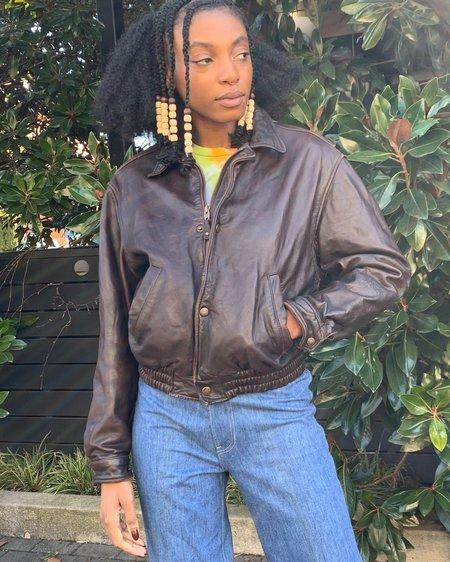 Vintage 90s Banana Republic Bomber jacket - brown