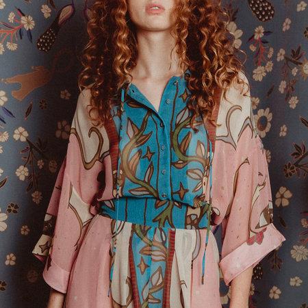 Carolina K Kimono Top - Moon Queen Print