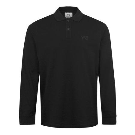 adidas Y-3 Classic Chest Logo Pique LS Polo Shirt - Black