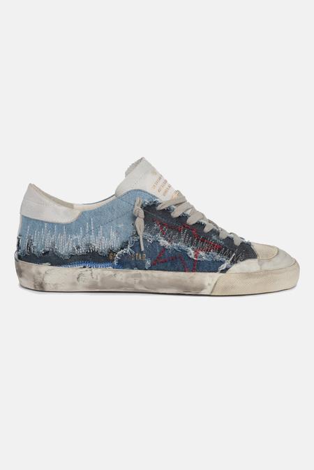 Golden Goose Superstar Sneaker Shoes - Blue/Red
