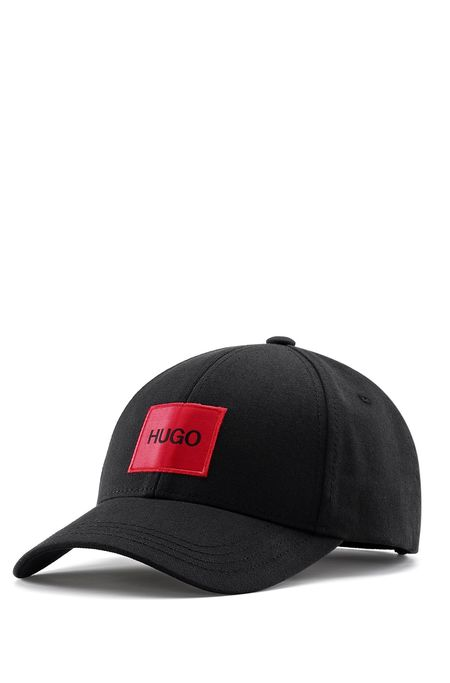 Hugo Red Box Logo Cap - Black
