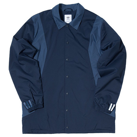 ADIDAS ORIGINALS BY WHITE MOUNTAINEERING LONG BENCH JACKET - COLLEGIATE NAVY