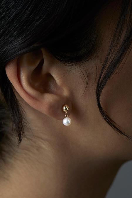 Satomi Kawakita Sweetheart Sway Earrings - Gold/Pearl