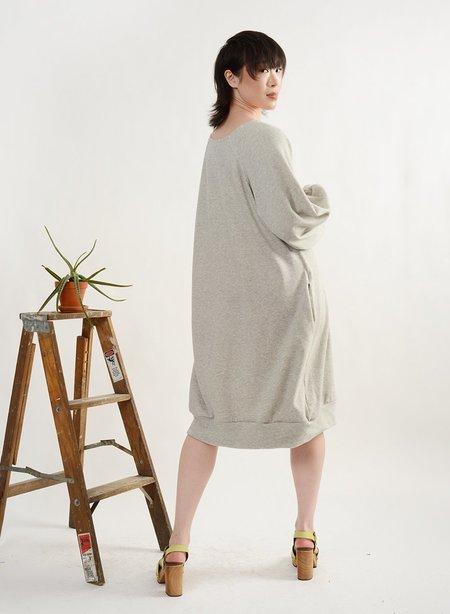 Meg Sweatshirt Dress - Grey Terry