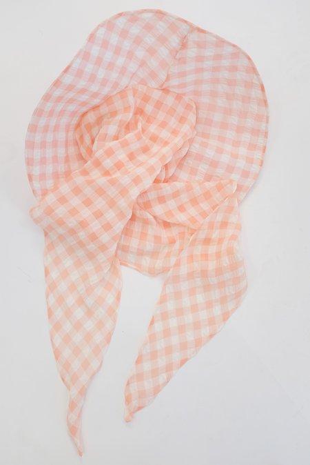 Beklina Scarf Hat - Grapefruit Gingham