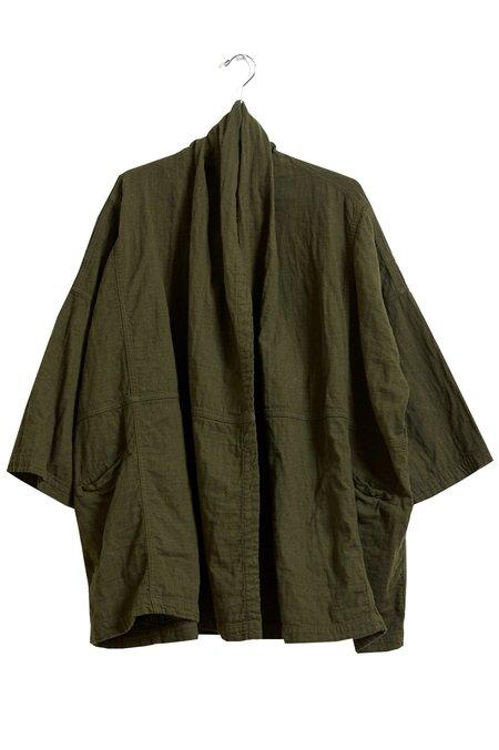 Atelier Delphine Haori Cotton Coat - Hunter Green