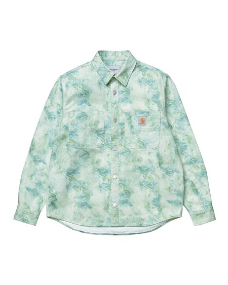 CARHARTT WIP LS Marble Shirt - Marble Print Wave/Stone washed