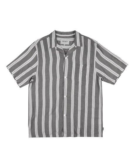 CARHARTT WIP SS Foley Stripe Shirt - Black