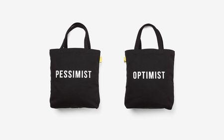 The School of Life Optimist/Pessimist Tote