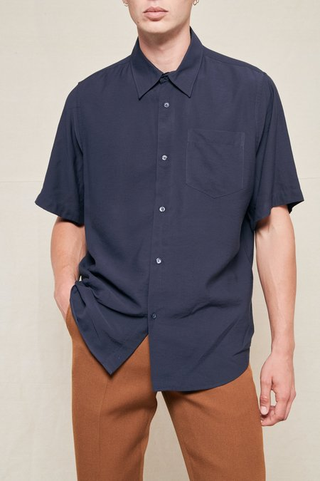 AMI Short Sleeve Summer Fit Shirt - NAVY 410