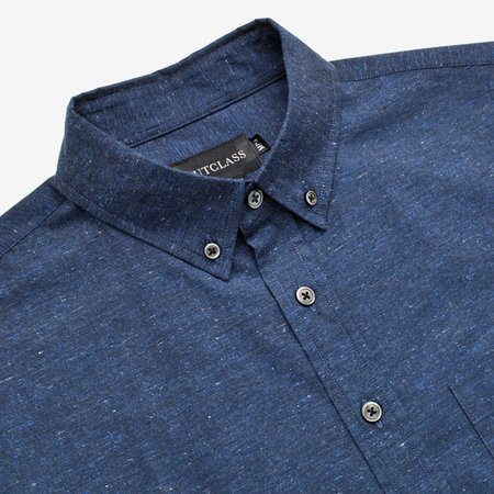 Outclass Flecked S/S Shirt - Navy