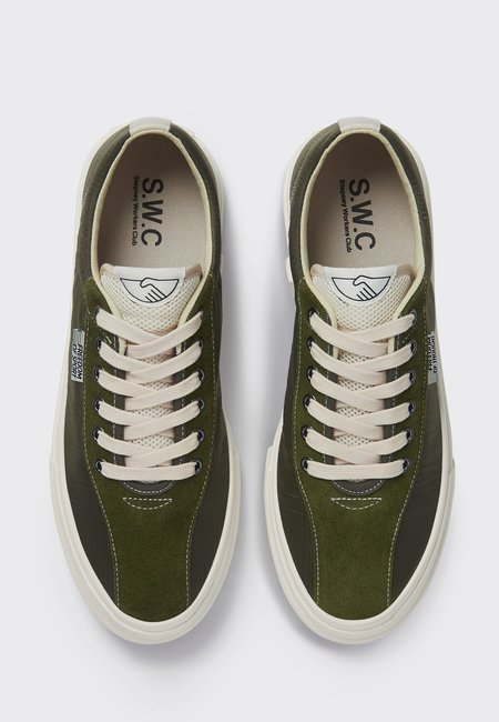 UNISEX Stepney Workers Club Dellow Track Nylon Sneakers - Olive