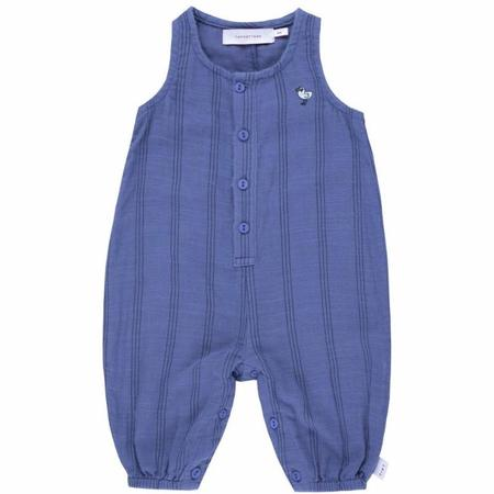 kids tinycottons bird relaxed playsuit - iris blue/ink blue