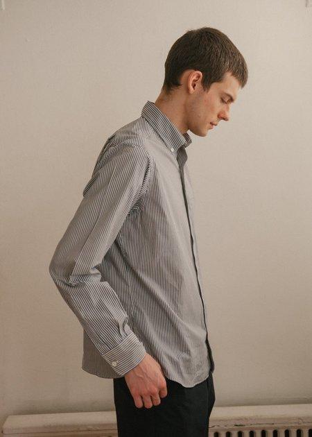 Steven Alan Single Needle Shirt - Eton Blue Stripe