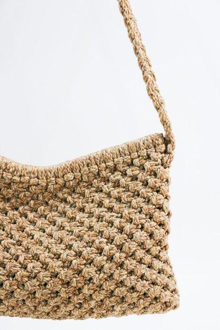 Vintage Yves Saint Laurent Woven Shoulder Bag - Beige