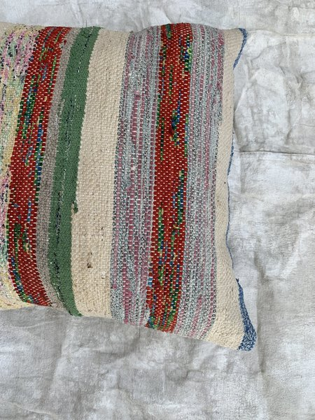 Cuttalossa & Co. Multi Cotton Rag Weave Large Throw Pillow