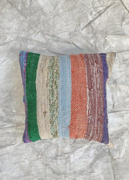Cuttalossa & Co. Rag Weave Bold Stripe Throw Pillow