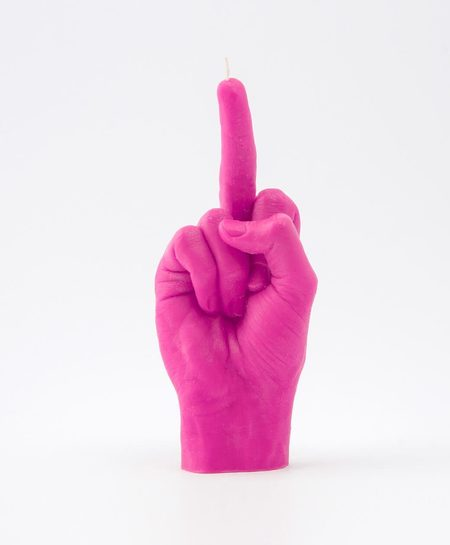 54celcius hand F*CK YOU! candle - pink