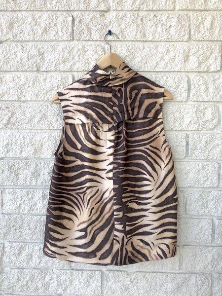 Zimmermann Luminous Buttoned Smock Blouse - Zebra