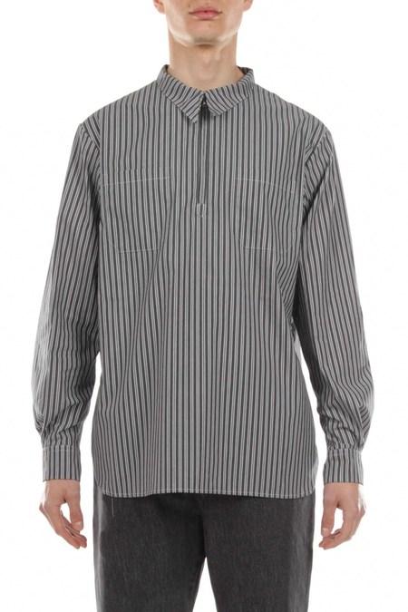 Rold Skov Half Zip Shirt - Stripe