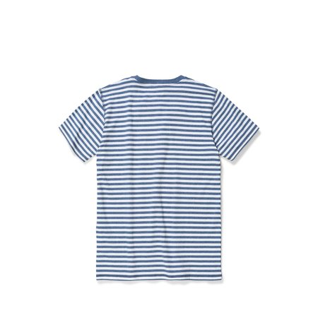 Norse Projects Niels Classic Stripe SS Tshirt - Dark Navy/White