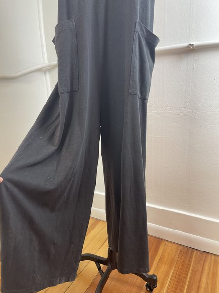 [pre-loved] Back Beat Co. Hemp Everyday Jumpsuit - Washed Black