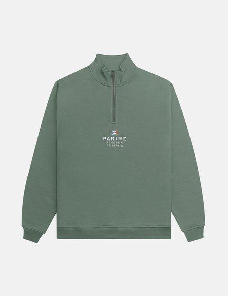 Parlez Prospect Quarter Zip Sweatshirt - Light Khaki
