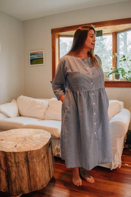 Conrado Christina Shirtdress - Blue Stripe